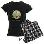 peas-ful vegan Women's Dark Pajamas