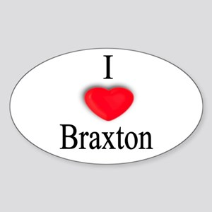 Braxton Oval Sticker