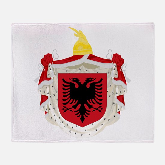 Albanian Kingdom Coat of Arms Throw Blanket