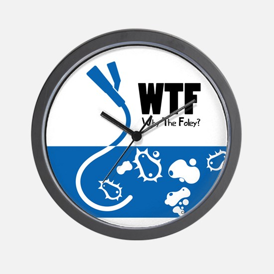 WTF - Why The Foley 01 Wall Clock