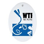 WTF - Why The Foley 01 Ornament (Oval)