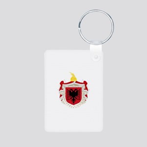 Albanian Kingdom Coat of Arms Aluminum Photo Keych
