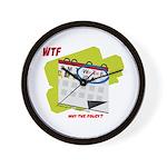 WTF - Why The Foley 02 Wall Clock