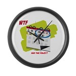 WTF - Why The Foley 02 Large Wall Clock
