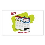 WTF - Why The Foley 02 Sticker (Rectangle 50 pk)