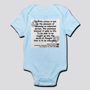 Hamilton Educated Quote Infant Bodysuit