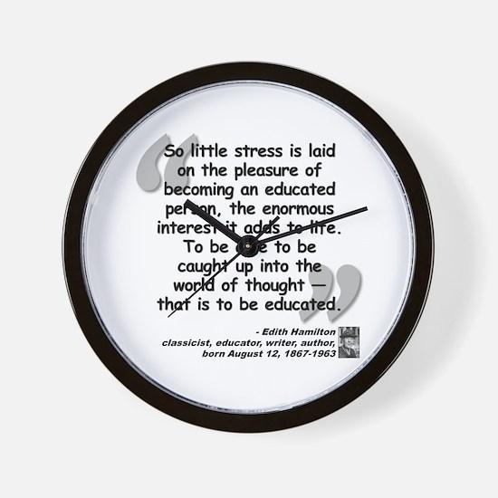 Hamilton Educated Quote Wall Clock