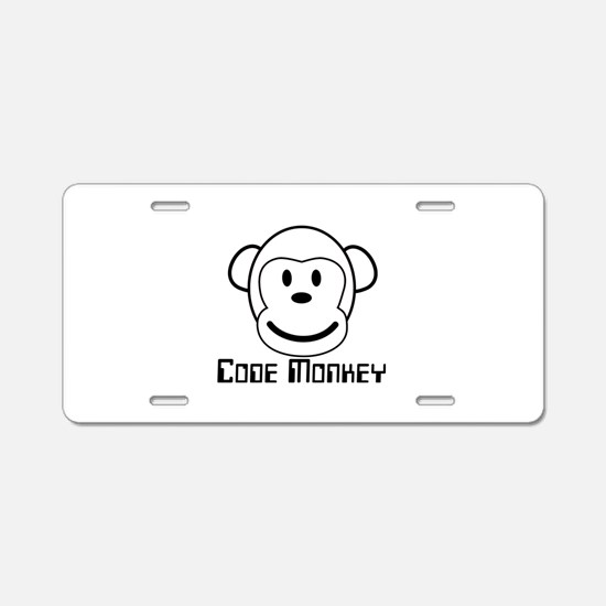 Code Monkey Aluminum License Plate