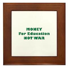 Money for Education Framed Tile