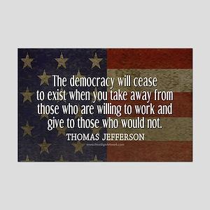Jefferson Democracy Quote 2 Mini Poster Print