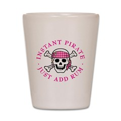 Instant Pirate Lady Shot Glass