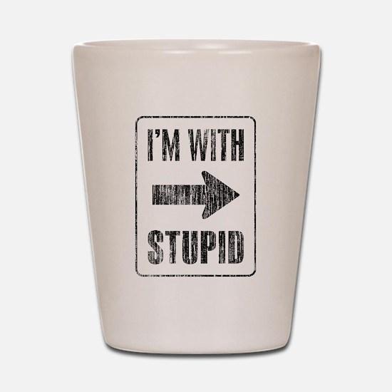 Vintage I'm With Stupid [r] Shot Glass