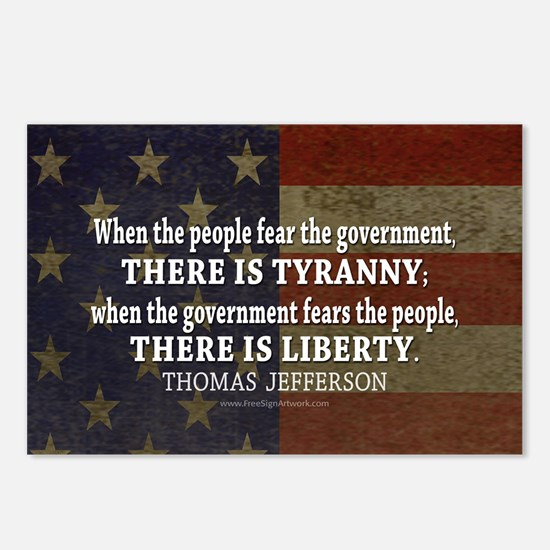 Liberty vs. Tyranny - New Postcards (Package of 8)