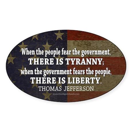 Liberty vs. Tyranny - New Sticker (Oval)
