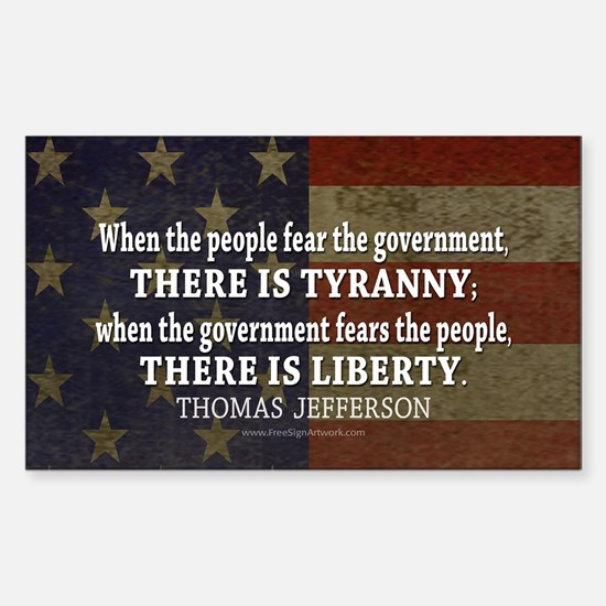 Liberty vs. Tyranny - New Sticker (Rectangle)