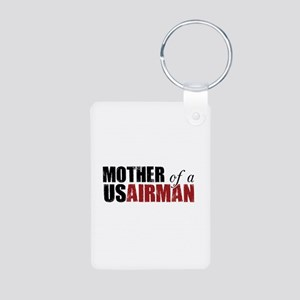 Mother of a US Airman Aluminum Photo Keychain