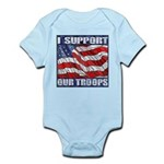 I Support Our Troops Infant Creeper