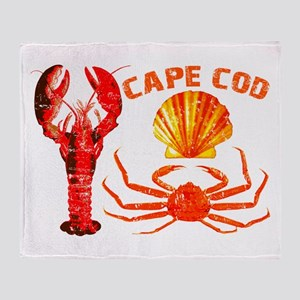Cape Cod - Lobster, Crab and Throw Blanket