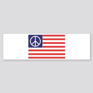 Peace Flag Bumper Sticker