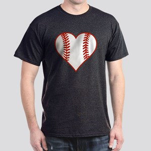 I Heart Baseball Graphic Dark T-Shirt