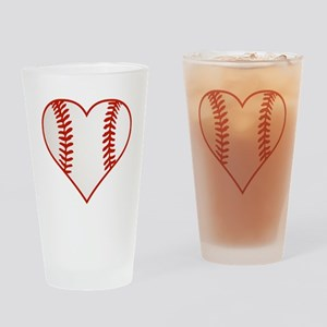 I Heart Baseball Graphic Drinking Glass