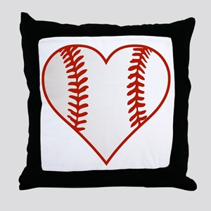 I Heart Baseball Graphic Throw Pillow