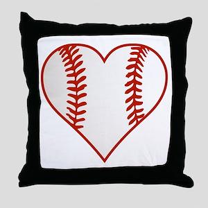 I Heart Baseball Graphic Throw Pillow