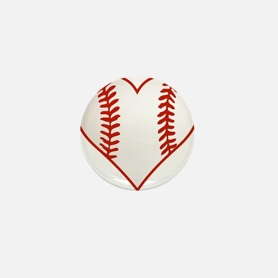 I Heart Baseball Graphic Mini Button