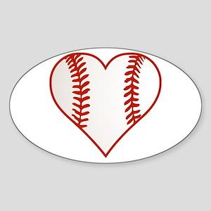 I Heart Baseball Graphic Sticker (Oval)