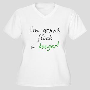 flick a booger Women's Plus Size V-Neck T-Shirt