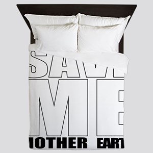 Save the planet Queen Duvet