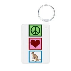 Peace Love Kangaroo Keychains
