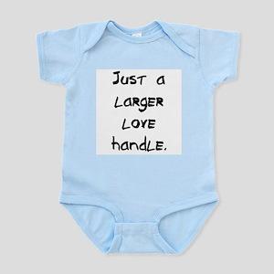 larger love handle Infant Bodysuit