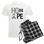 Brain Cancer Hope Men's Light Pajamas