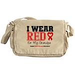 I Wear Red Grandpa Messenger Bag