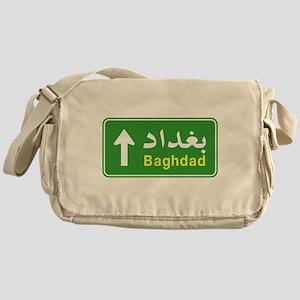 Baghdad Arabic Traffic Sign Messenger Bag