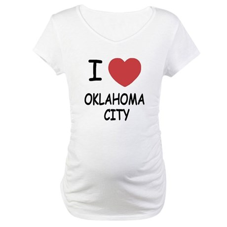 I heart oklahoma city Maternity T-Shirt