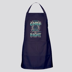 Female Chef T Shirt, I Get It Right T Apron (dark)
