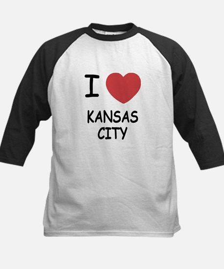 I heart kansas city Kids Baseball Jersey