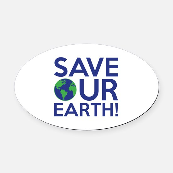 Save Our Earth Oval Car Magnet