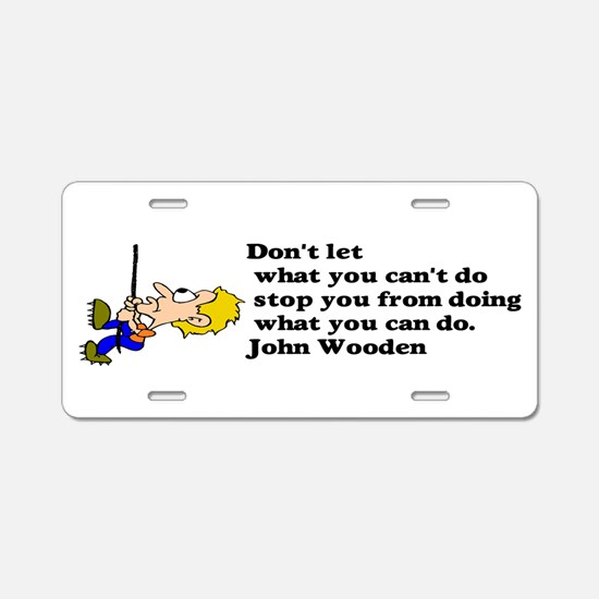 do it Aluminum License Plate