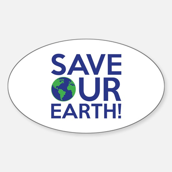 Save Our Earth Sticker (Oval)