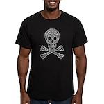 Celtic Skull and Crossbones Men's Fitted T-Shirt (