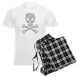 Celtic Skull and Crossbones Men's Light Pajamas
