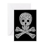 Celtic Skull and Crossbones Greeting Card