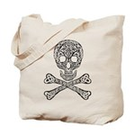 Celtic Skull and Crossbones Tote Bag