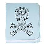 Celtic Skull and Crossbones baby blanket