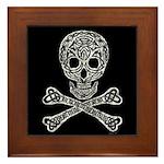 Celtic Skull and Crossbones Framed Tile