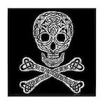 Celtic Skull and Crossbones Tile Coaster