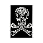 Celtic Skull and Crossbones Rectangle Magnet (100